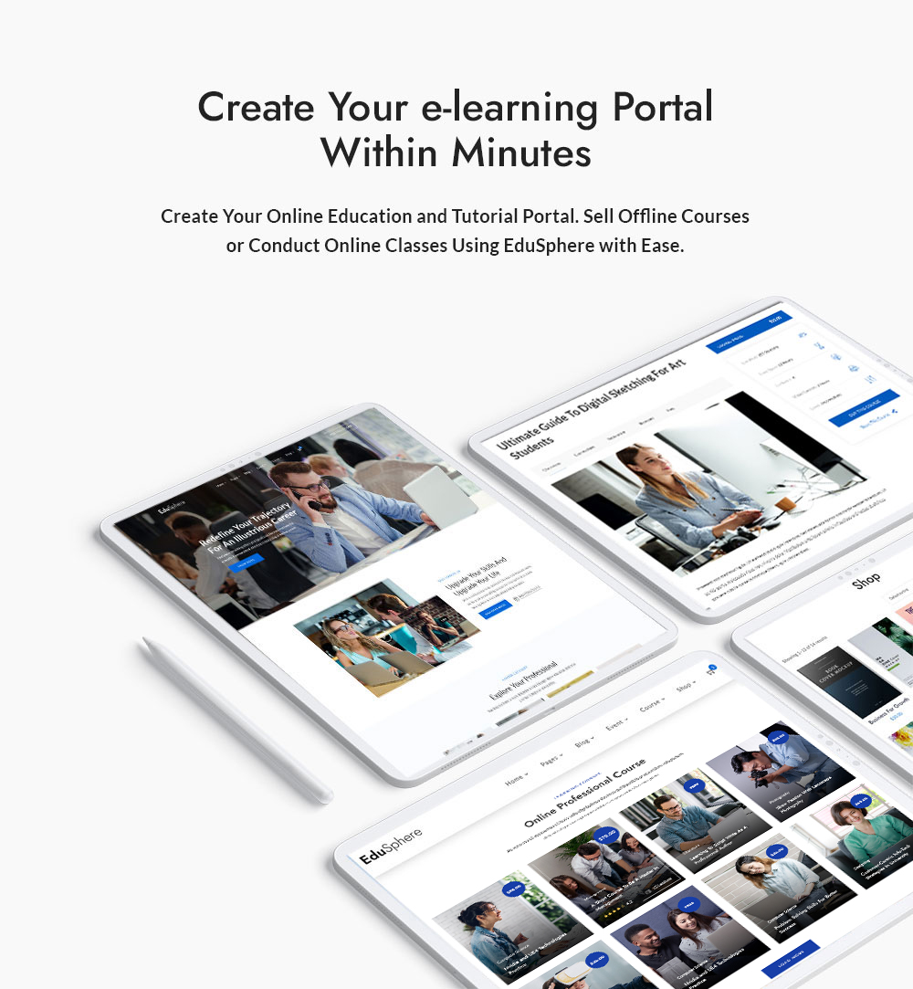Create Your e-Learning Portal Within Minutes