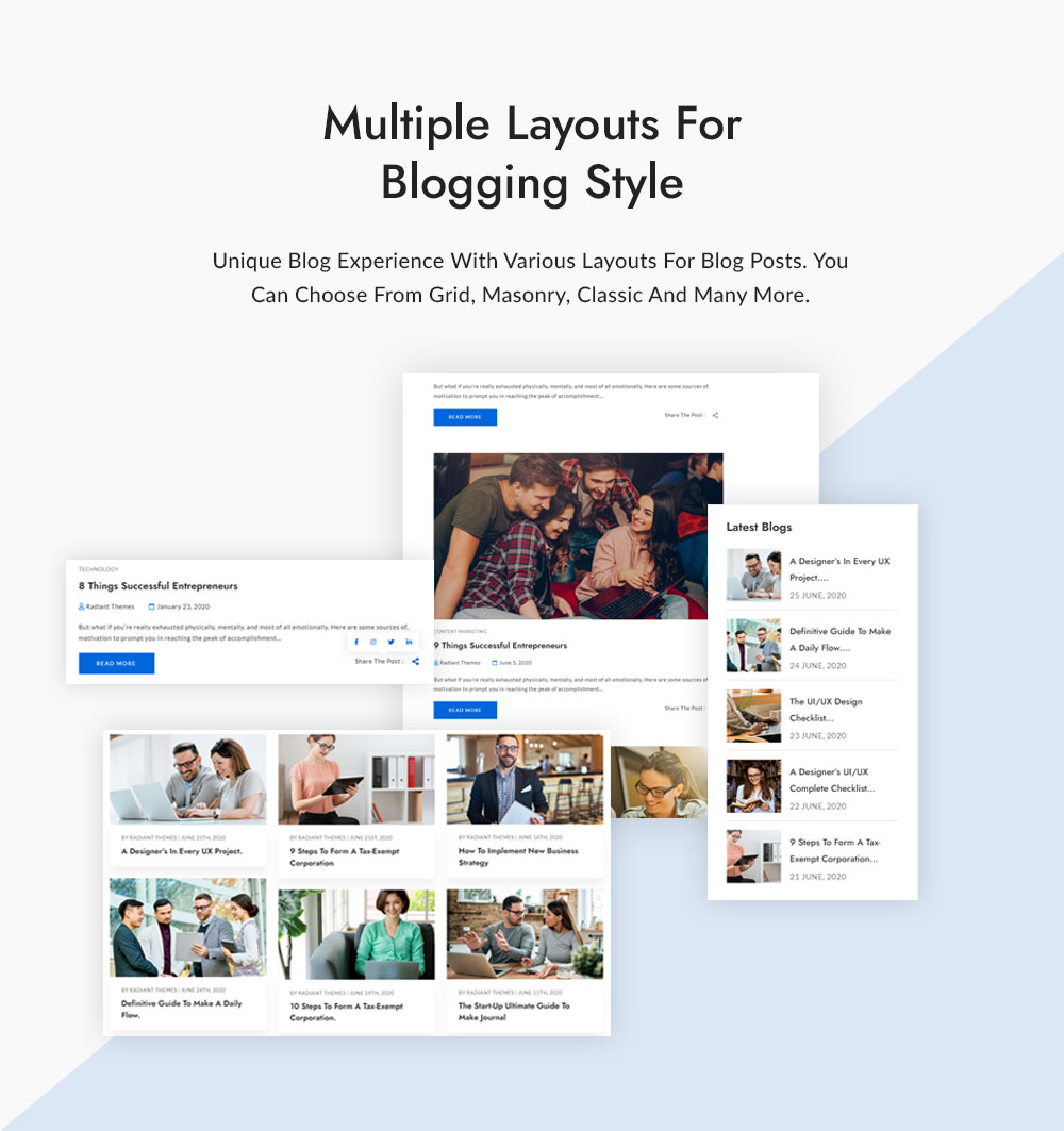 Multiple Layouts for Blogging style
